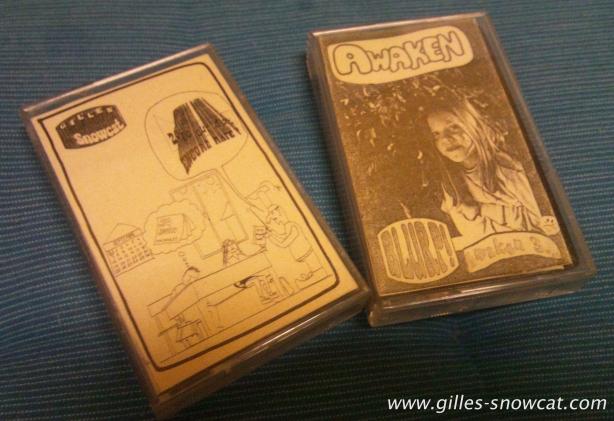 "Gilles Snowcat's solo tape ""Zéro Sur Dix : Encore Raté!"" and Awaken's ""Awaken III: Blurp!"""
