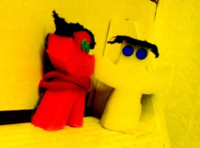 Yellow & Pink Voodoo Dolls